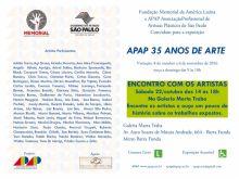 Encontro com os artistas da APAP